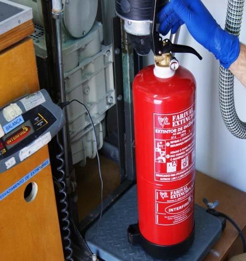 Manutenção de extintores de incêndio